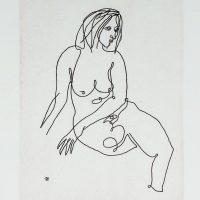 Louis Kahan - Pensive Woman