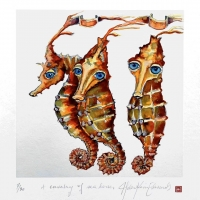 A cavalry of seahorses